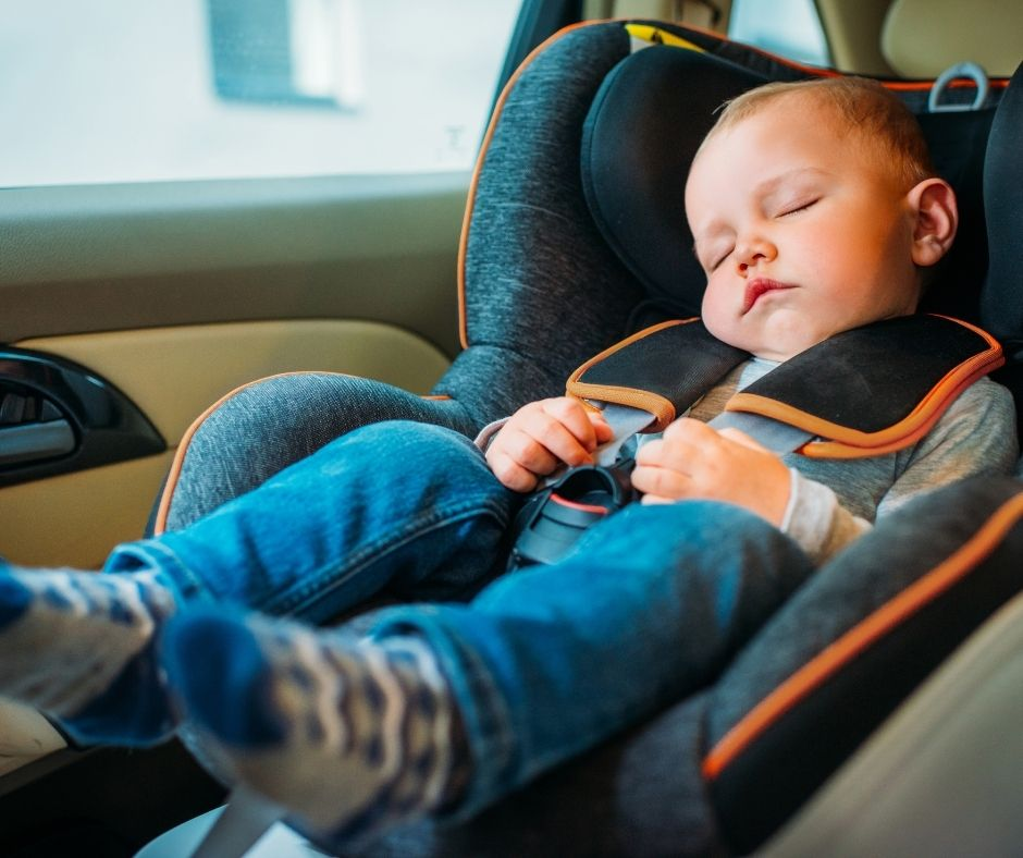 Infants sleeping in car seats can be forgotten in the car due to Forgotten Baby Syndrome